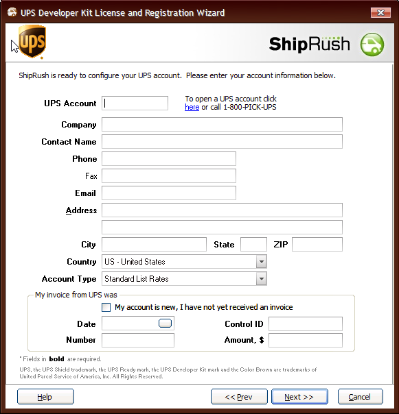 How to Set up ShipRush – RevolutionParts, Inc